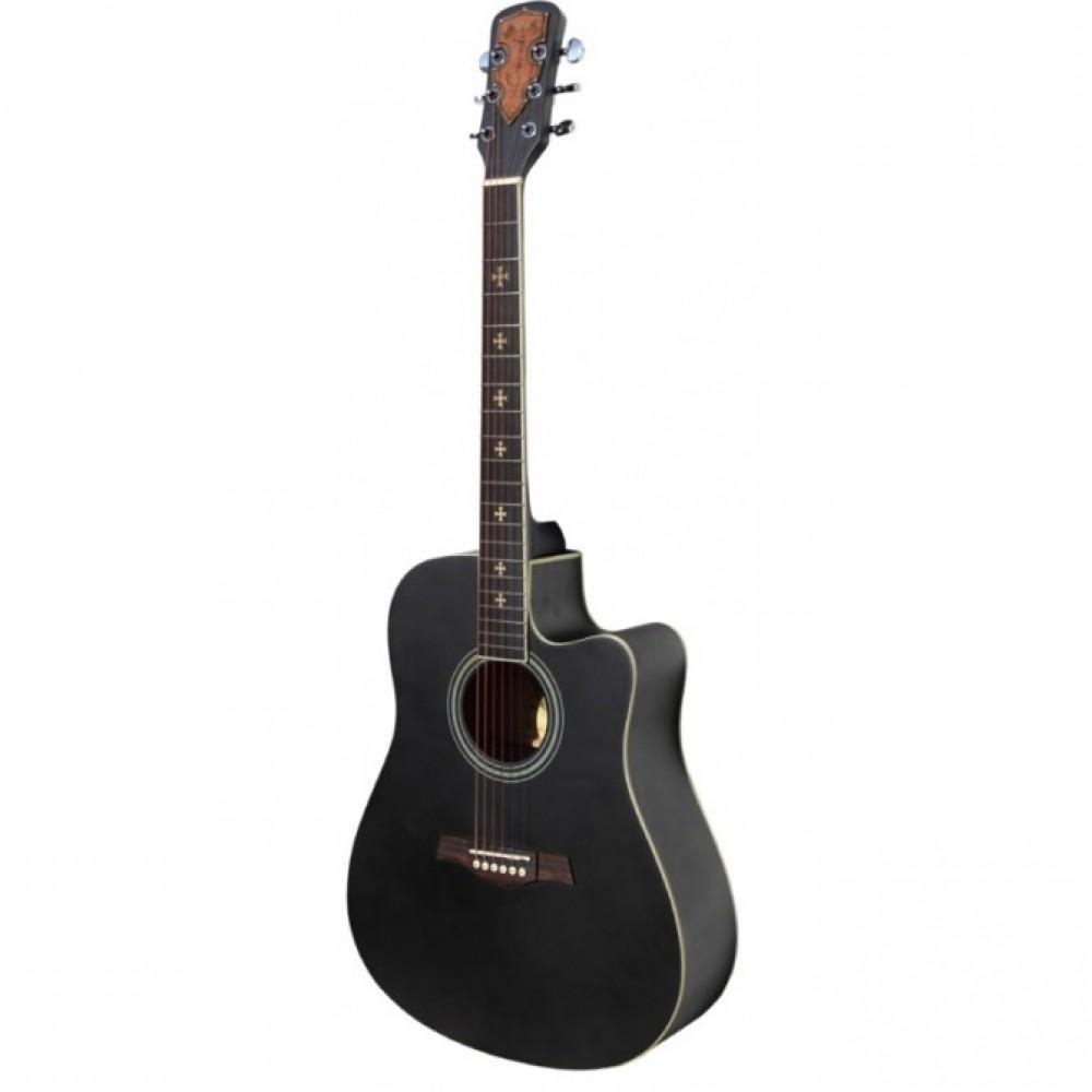 Гитара акустическая Crusader CF-4001 (BK), глянцевое покрытие