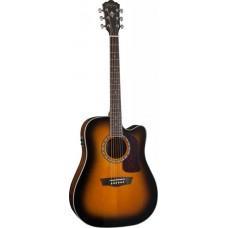 Электроакустическая гитара Washburn HD10SCETB