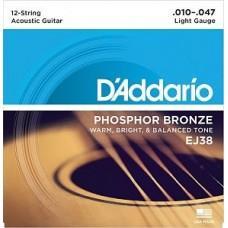 D'Addario EJ-38, 12-string
