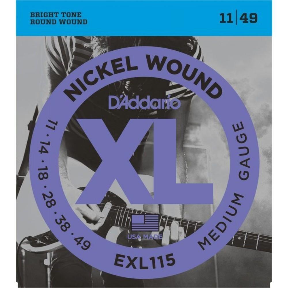 D'Addario XL Nickel 11-49 Medium/Blues-Jazz Rock EXL-115
