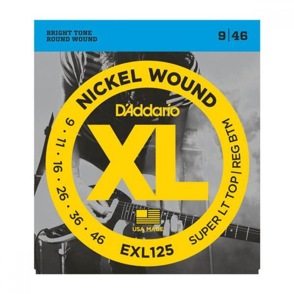 D'Addario XL Nickel 9-46 Super Light Top/Regular Bottom EXL125