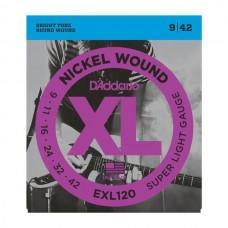 D'Addario XL Nickel 9-42 Super Light EXL120