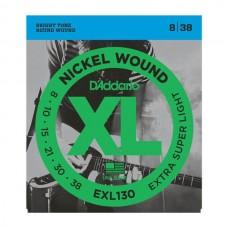 D'Addario XL Nickel 8-38 Extra-Super Light EXL130