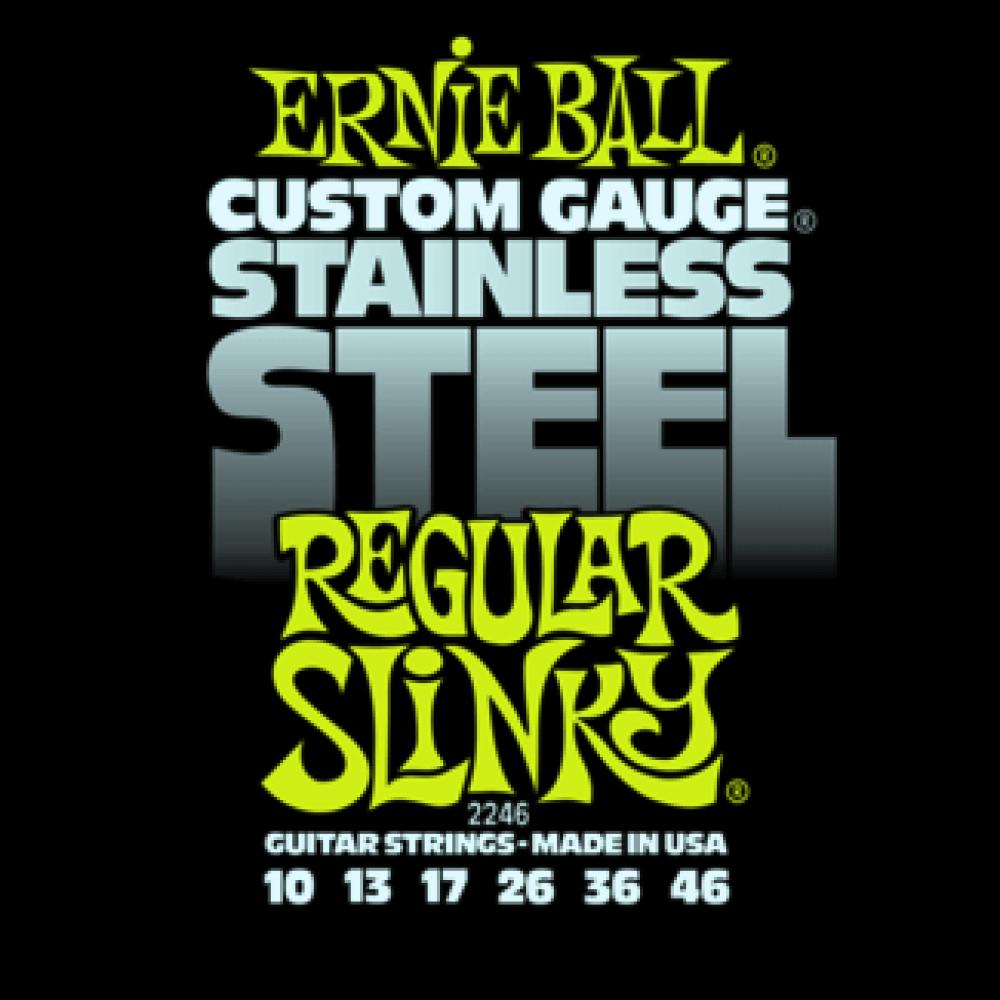 Струны для электрогитары Ernie Ball 2246 10-46 Stainless Steel Regular Slinky