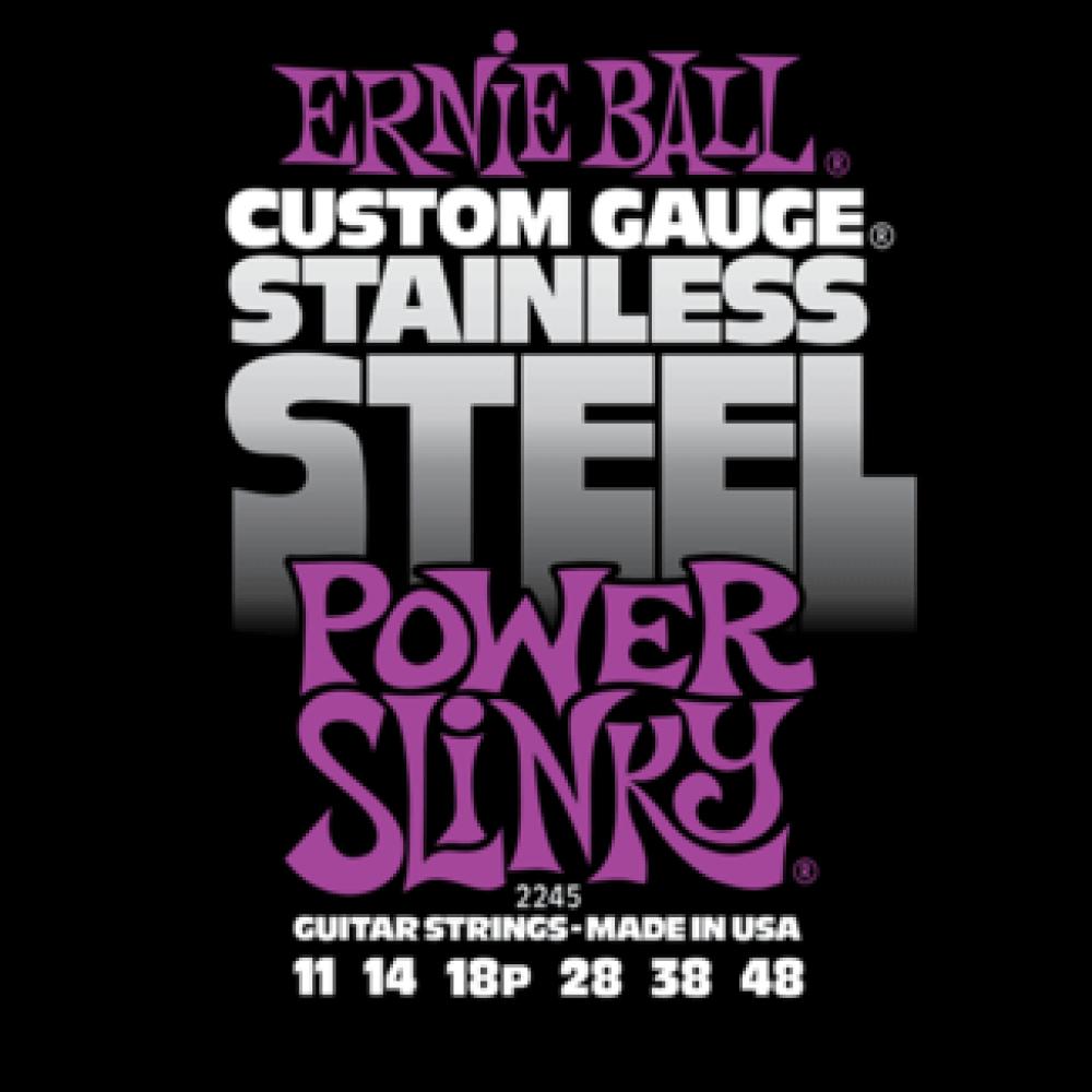 Струны для электрогитары Ernie Ball 2245 11-48 Stainless Steel Power Slinky