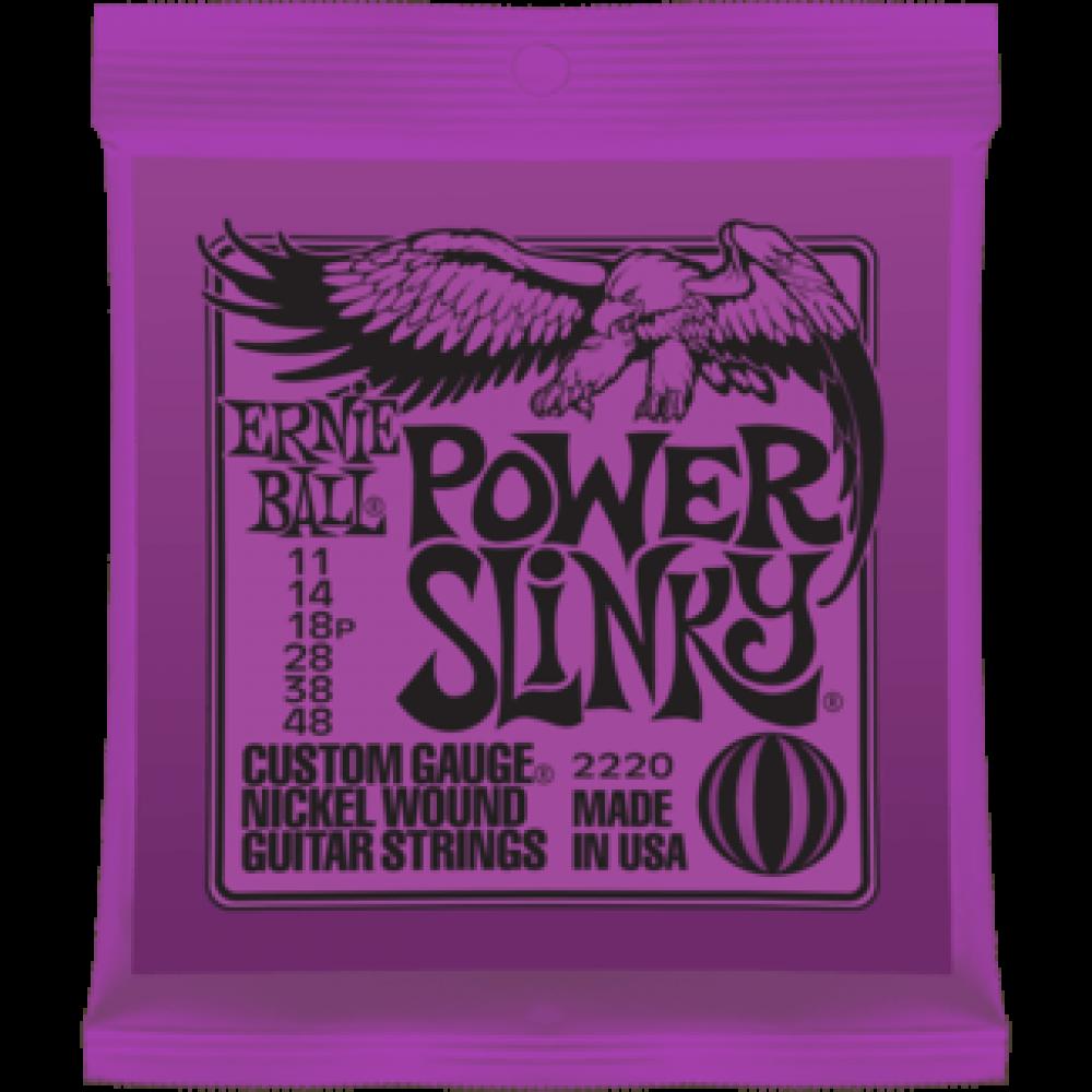 Струны для электрогитары Ernie Ball 2220 11-48 Power Slinky