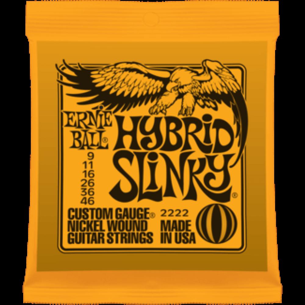 Струны для электрогитары Ernie Ball 2222 9-46 Hybrid Slinky