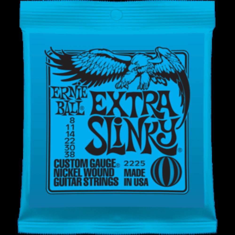 Струны для электрогитары Ernie Ball 2225 8-38 Extra Slinky