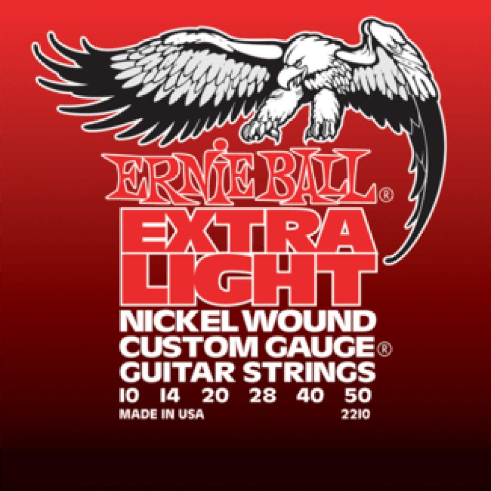 Струны для электрогитары Ernie Ball 2210 10-50 Extra Light 3-я струна в оплетке