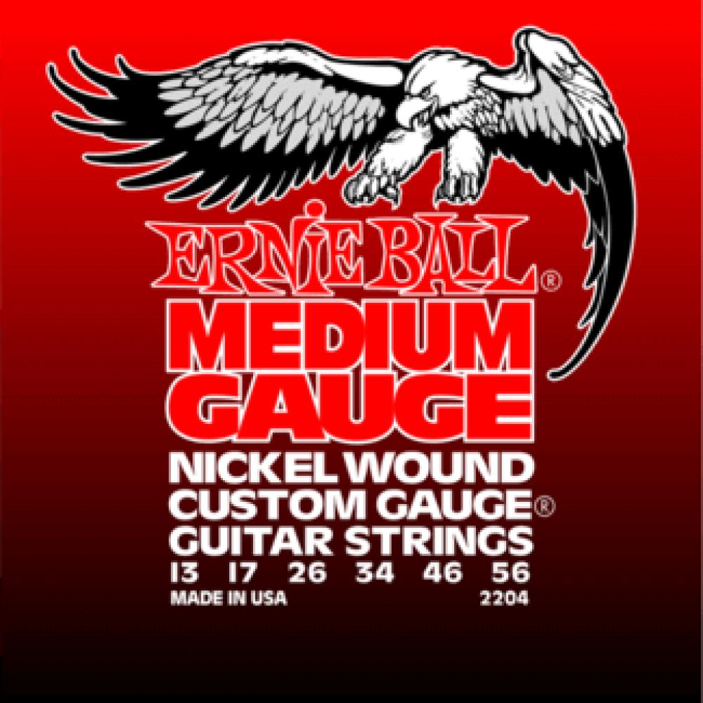 Струны для электрогитары Ernie Ball 2204 13-56 Medium 3-я струна в оплетке