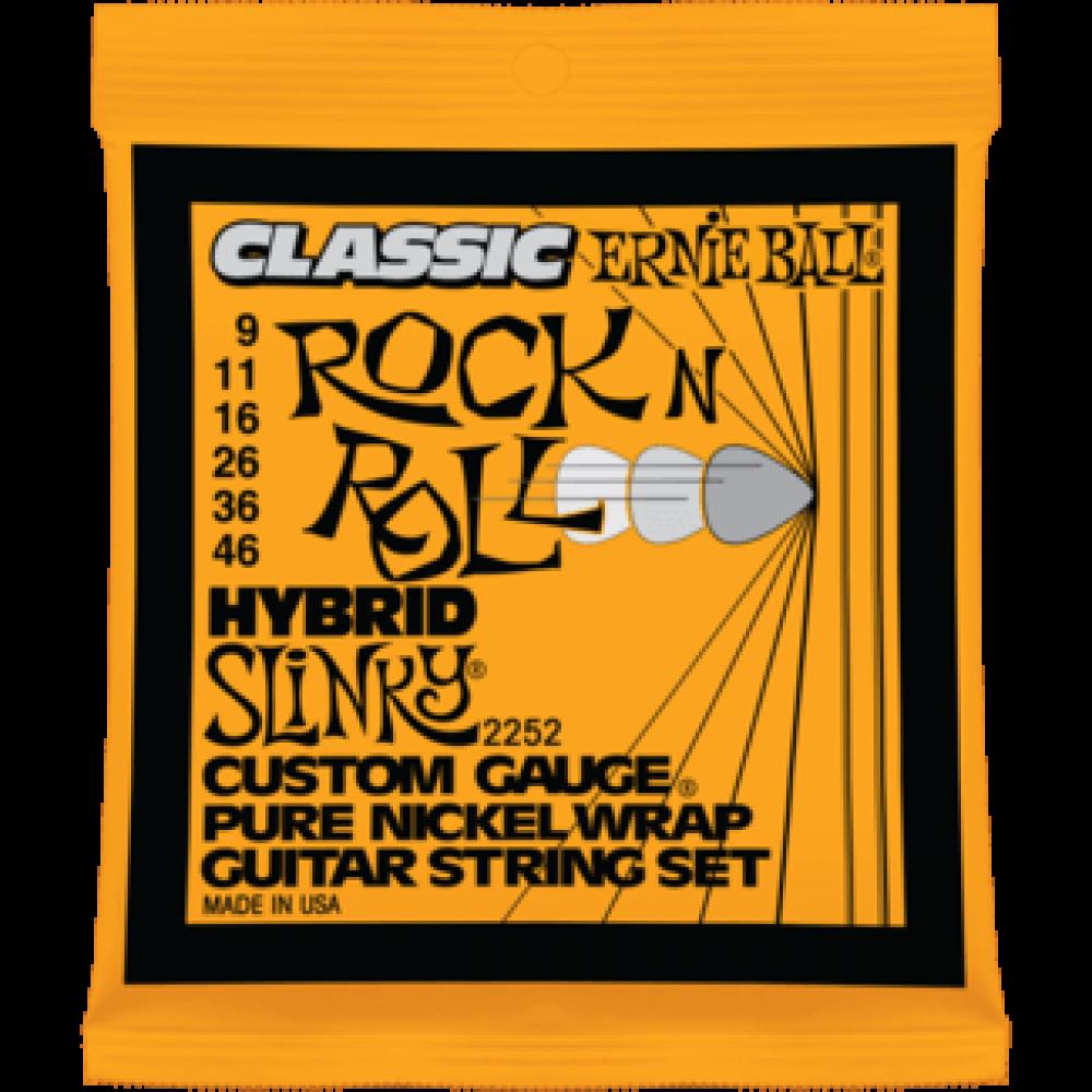 Струны для электрогитары Ernie Ball 2252 9-46 Classic Pure Nickel Hybrid Slinky