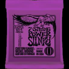 Струны для электрогитары Ernie Ball 2620 11-58 7-String Power Slinky