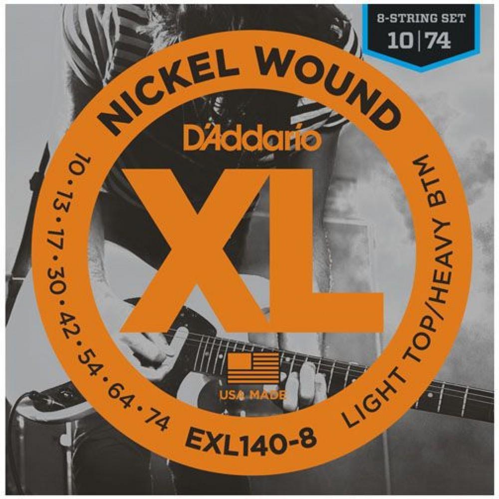 D'Addario XL Nickel 10-74 Heavy EXL140-8