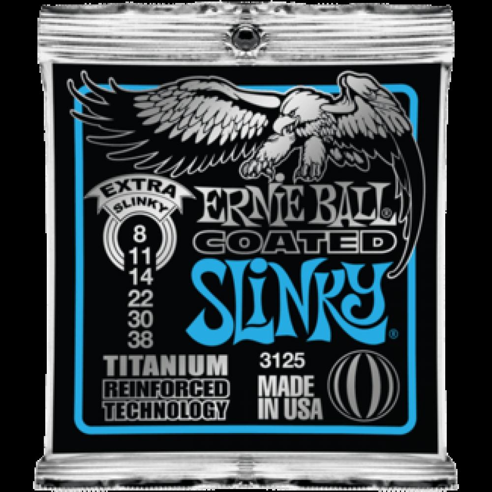 Струны для электрогитары Ernie Ball 3125 8-38 Coated Titanium RPS Extra Slinky