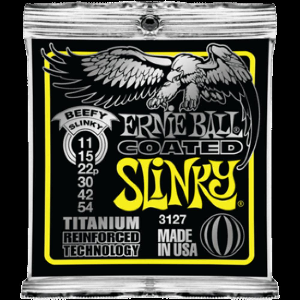 Струны для электрогитары Ernie Ball 3127 11-54 Coated Titanium RPS Beefy Slinky