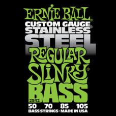 Струны для бас гитары Ernie Ball 2842 50-105 Stainless Steel Regular Slinky