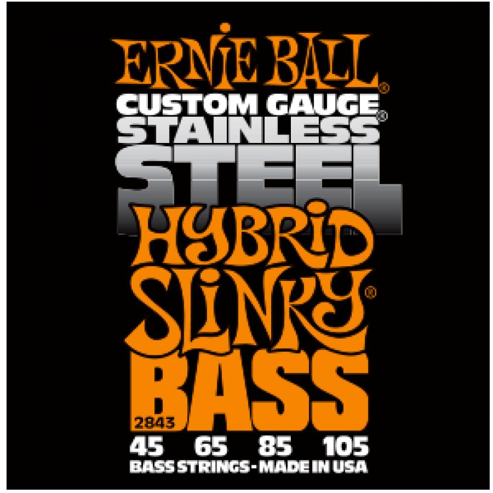 Струны для бас гитары Ernie Ball 2843 45-105 Stainless Steel Hybrid Slinky