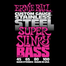 Струны для бас гитары Ernie Ball 2844 45-100 Stainless Steel Super Slinky