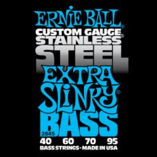 Струны для бас гитары Ernie Ball 2845 40-95 Stainless Steel Extra Slinky