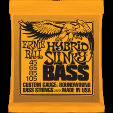 Струны для бас гитары Ernie Ball 2833 45-105 Hybrid Slinky