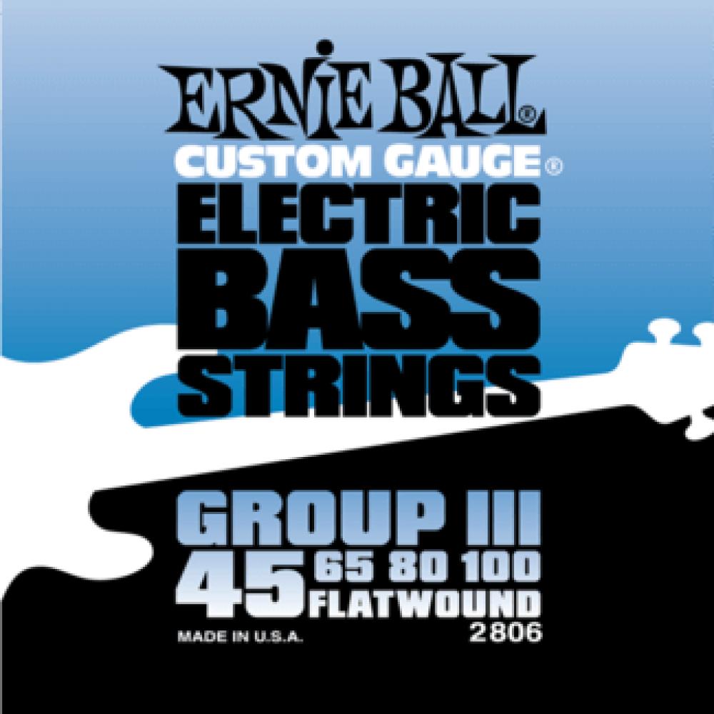 Ernie Ball 2806 45-100 Flatwound Bass Group III