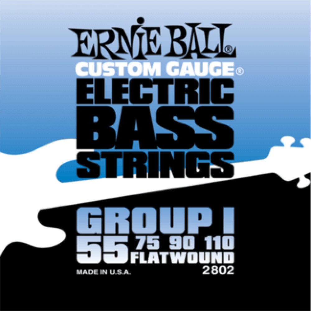 Ernie Ball 2802 55-110 Flatwound Bass Group I