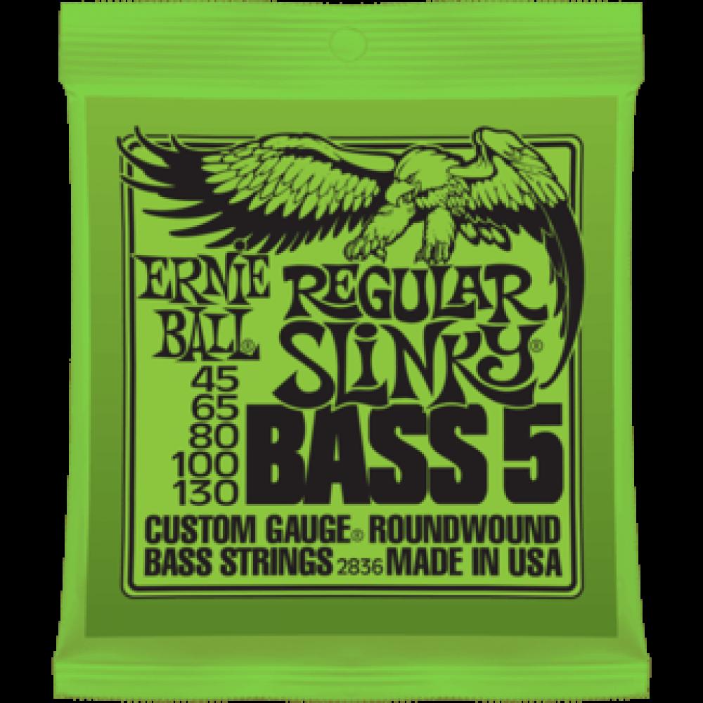 Струны для бас гитары Ernie Ball 2836 45-130 Regular Slinky 5-String