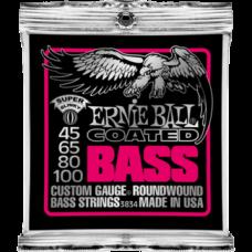 Струны для бас гитары Ernie Ball 3834 45-100 Coated Super Slinky