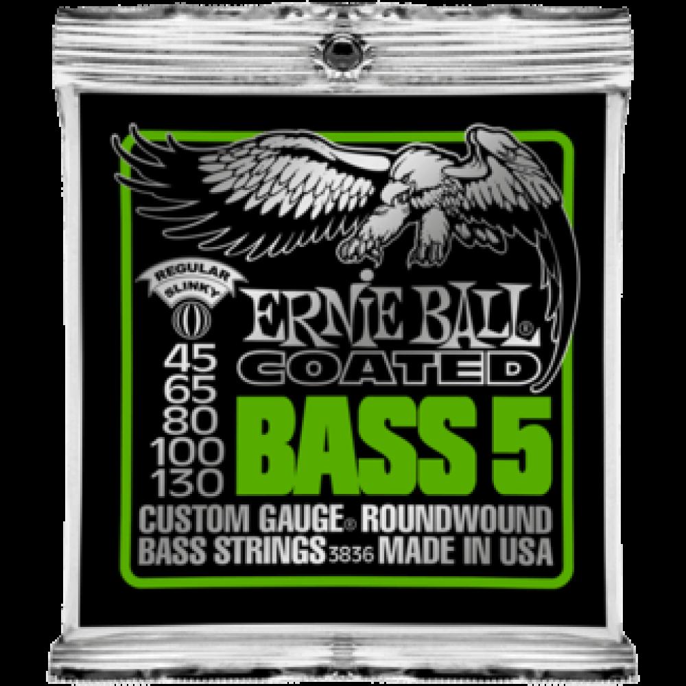 Струны для бас гитары Ernie Ball 3836 45-130 Coated 5-String