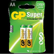 Батарейки пальчиковые GP GP15A-2CR2 Super Alkaline AA