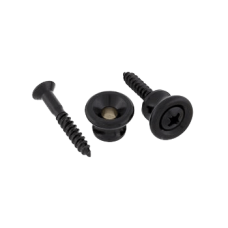 Guitarparts HE008 BK Пуговица для ремня (черная)