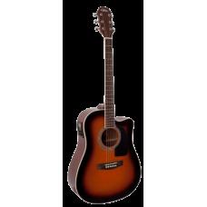 Гитара электроакустическая Aria AD-18 CE, 4-пол. эквалайзер, тюнер