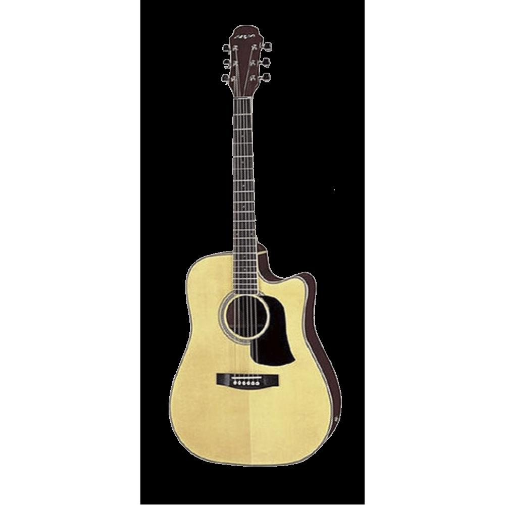 Гитара электроакустическая из массива Aria AW-35CE, 4-пол. эквалайзер, тюнер