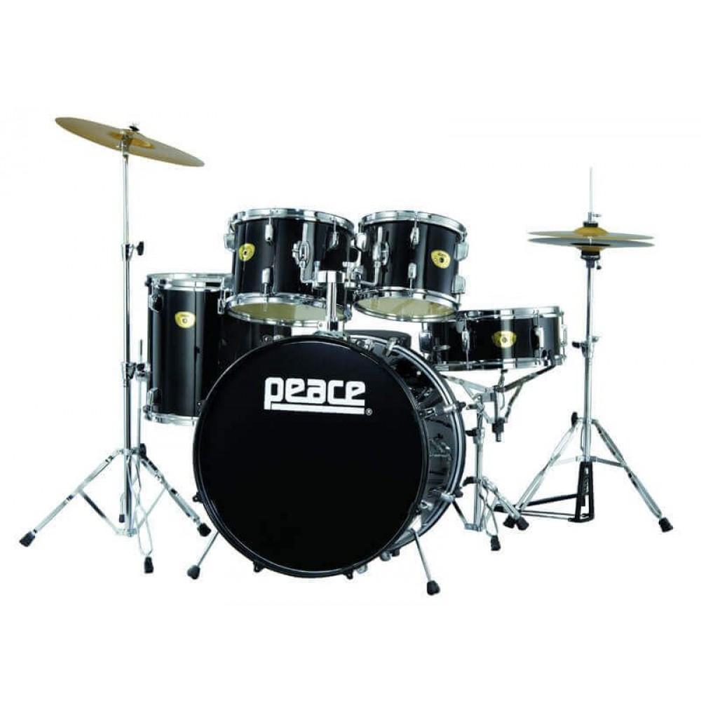 Барабанная установка Peace Prodigy Series DP-109 чёрная/хром