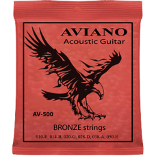 Aviano AV-500 10-50 Acoustic Guitar Bronze
