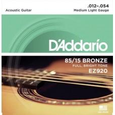 D'Addario EZ920 12-54 Medium Light