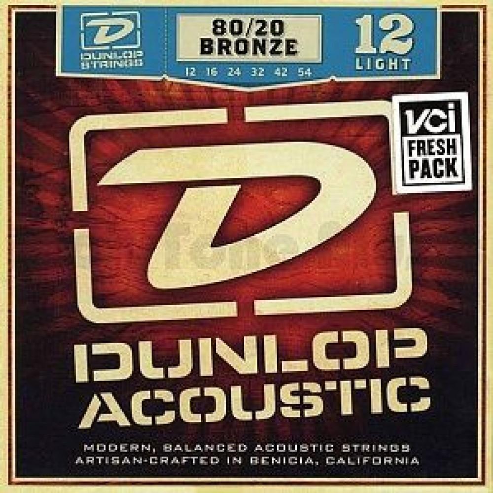 Dunlop DAB1254, Light, бронза 80/20, 12-54