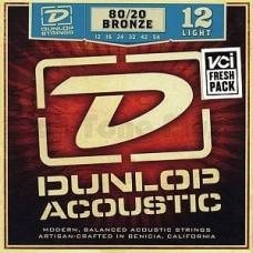 Dunlop DAB1254, Light, бронза 80/20, 12-54