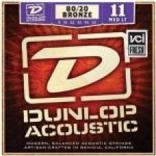 Dunlop DAB1152, Medium Light, бронза 80/20, 11-52, акустические