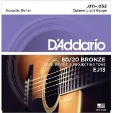 D'Addario EJ-13, бронза (80/20) 11-52