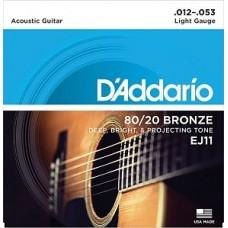 D'Addario EJ-11, бронза (80/20) 12-53