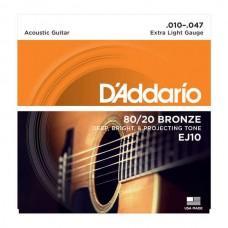 D'Addario 80/20 Bronze 10-47 (EJ10)