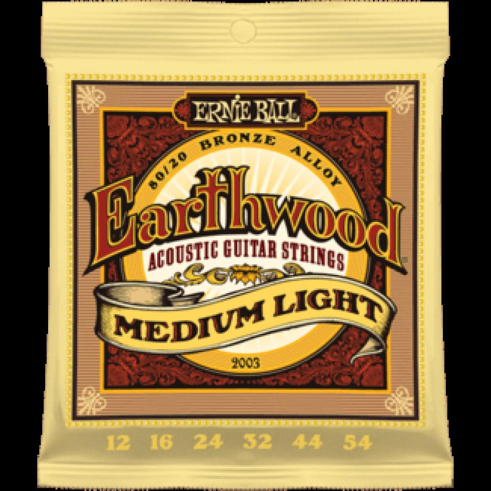 Ernie Ball 2003 12-54 Earthwood Medium Light 80/20 Bronze