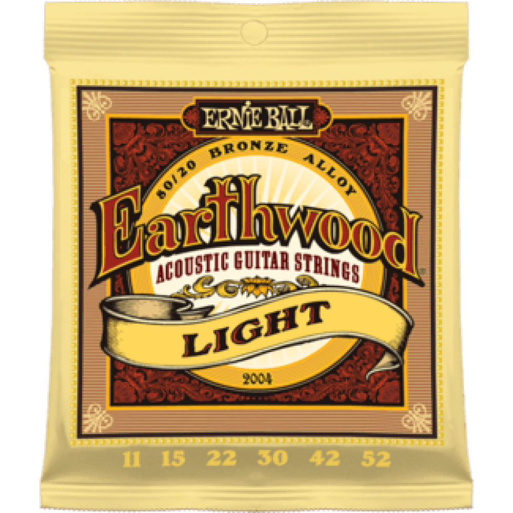 Ernie Ball 2004 11-52 Earthwood Light 80/20 Bronze