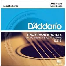 D'Addario EJ-16, фосфорная бронза 12-53