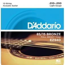D'Addario EZ940 10-50 12 string
