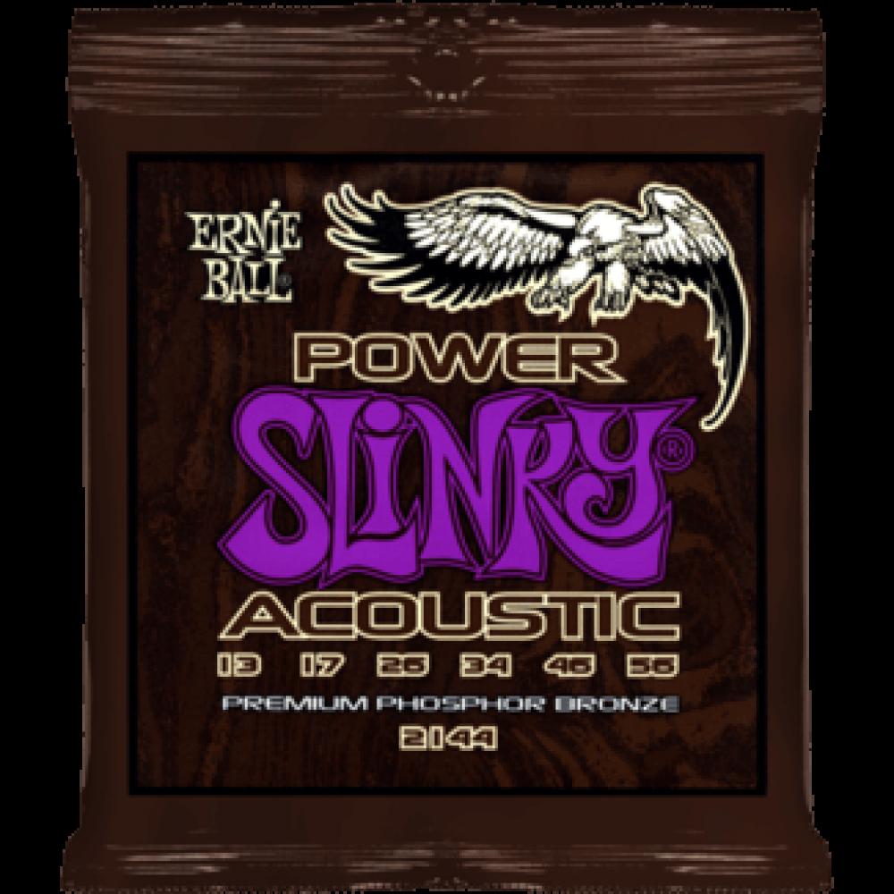 Струны для акустической гитары Ernie Ball Ernie Ball 2144 13-54 Power Slinky Phosphor Bronze