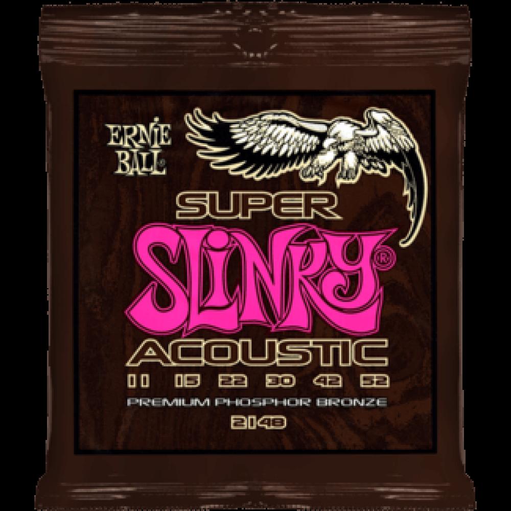 Струны для акустической гитары Ernie Ball 2148 11-52 Super Slinky Phosphor Bronze