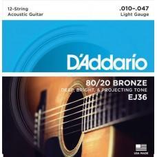 D'Addario EJ36 10-47 12 string