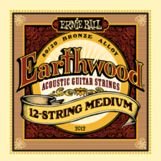 Ernie Ball 2012 11-52 Earthwood 12-String Medium 80/20 Bronze